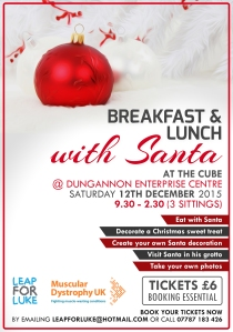 Book your place for Breakfast, Bruch or Lunch with Santa today - 07787183426