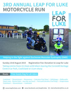 3rd Annual Leap for Luke Motor Cycle Run