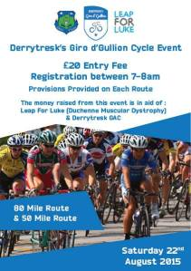 cyclists all ready for Saturdays Giro d'Gullion in aid of Leap for Luke and the Club