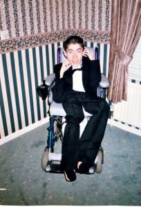 Luke's uncle Mark who suffered with Scoliosis and had a failed spinal fusion op
